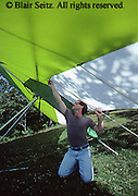 Outdoor recreation, Hang Gliding, Preparing Hang Glider, Susquehanna River, West Ranch, Hyner View State Park