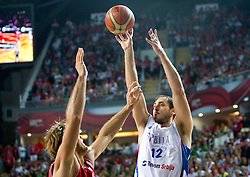 Nenad Krstic of Serbia during the second semifinal basketball match between National teams of Serbia and Turkey at 2010 FIBA World Championships on September 11, 2010 at the Sinan Erdem Dome in Istanbul, Turkey. Turkey defeated Serbia 83 - 82 and qualified to finals.  (Photo By Vid Ponikvar / Sportida.com)