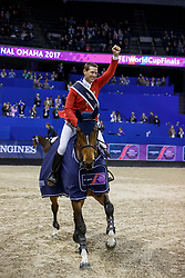 Ward McLain, USA, HH Azur<br /> Longines FEI World Cup Jumping Final IV, Omaha 2017 <br /> © Hippo Foto - Stefan Lafrentz<br /> 02/04/2017
