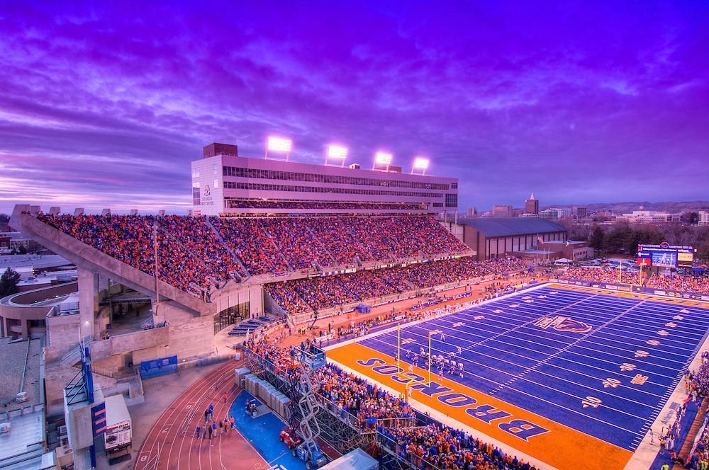 Boise State University Football and Track Stadium.