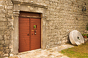 The entrance to Skocibuha Castle, Sudurad, Sipan Island, Dalmatian Coast, Croatia