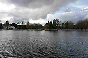 """Henley on Thames. United Kingdom.  General View across at """"Phyllis Court Club"""". the River Thames at the Oxfordshire. Henley Reach.   <br /> <br /> Saturday  28/01/2017<br /> <br /> © Peter SPURRIER<br /> <br /> LEICA CAMERA AG  LEICA Q (Typ 116)  f3.2  1/2500sec  28mm  3.4MB"""