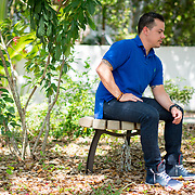 CORAL GABLES, FLORIDA, JULY 26, 2017<br /> Umut Dursun, a former U.S. Marine and currently a gender education specialist, outside his Coral Gables office. Dursun served in the military from 2000 to 2004 as a female and was deeply saddened by today's announcement by President Donald Trump that transgender people like him will no longer admitted in the military.<br /> (Photo by Angel Valentin/Freelance)