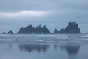 Shi Shi Beach, often named as one of the most beautiful beaches in Washington state, provides a stunning view of the Point of Arches, a chain of Pacific Ocean arches in Olympic National Park.