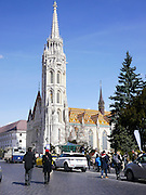Fishermans Bastion and Church of Our Lady or Matthias Church Castle District, Budapest Hungary