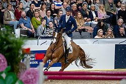 DEUSSER Daniel (GER), Scuderia 1918 Tobago Z<br /> Göteborg - Gothenburg Horse Show 2019 <br /> Longines FEI World Cup™ Jumping Final III<br /> Int. jumping competition over two rounds not against the clock with jump-off in case of point egality (1.50 - 1.60 m)<br /> Longines FEI Jumping World Cup™ Final and FEI Dressage World Cup™ Final<br /> 06. April 2019<br /> © www.sportfotos-lafrentz.de/Stefan Lafrentz
