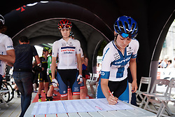 Lotta Lepistö (FIN) signs on at Giro Rosa 2018 - Stage 10, a 120.3 km road race starting and finishing in Cividale del Friuli, Italy on July 15, 2018. Photo by Sean Robinson/velofocus.com
