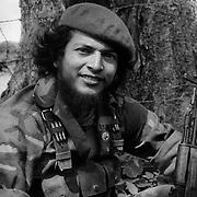 """MARIO JOS… G""""MEZ SOLDADO DEL SMP DE LA """"JUVENTUD SANDINISTA 19 DE JULIO"""". APAN¡S ESTADO DE JINOTEGA. NICARAGUA. 1985."""