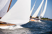 Cara Mia and Ticonderoga sailing in the Museum of Yachting Classic Yacht Regatta, day one.