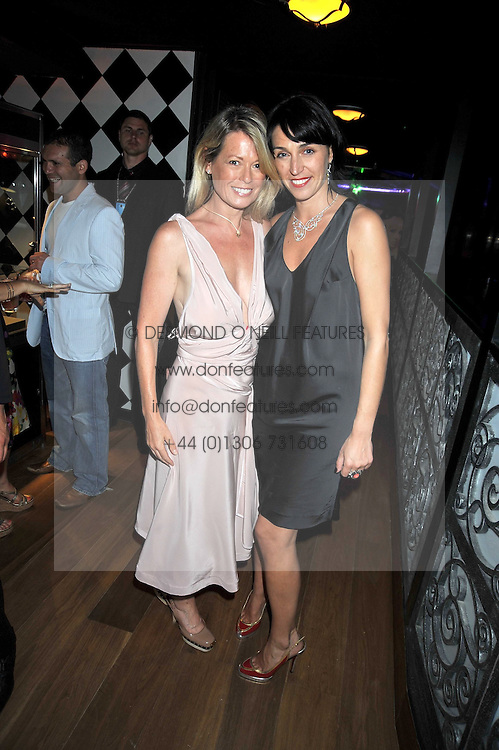 Left to right NICKY CLARK and ASSIA WEBSTER at a party hosted by Stephen Webster at the Alto Club, 15-21 Ganton Street, London on 2nd July 2009.