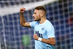 October 22, 2017 - Rome, Italy - Serie A Lazio v Cagliari.Ciro Immobile of Lazio celebration at Olimpico Stadium in Rome, Italy on October 22, 2017. (Credit Image: © Matteo Ciambelli/NurPhoto via ZUMA Press)