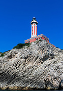Lighthouse at Punta Carena, Capri Island, Province of Naples, Campania, Italy