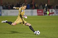 Luke McCormick goalkeeper for Truro City FC v Eastbourne Borough Football Club at Priory Lane