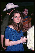 Marina Killery at Piers Gaveston Ball. Oxford Town Hall. 1981 approx© Copyright Photograph by Dafydd Jones 66 Stockwell Park Rd. London SW9 0DA Tel 020 7733 0108 www.dafjones.com
