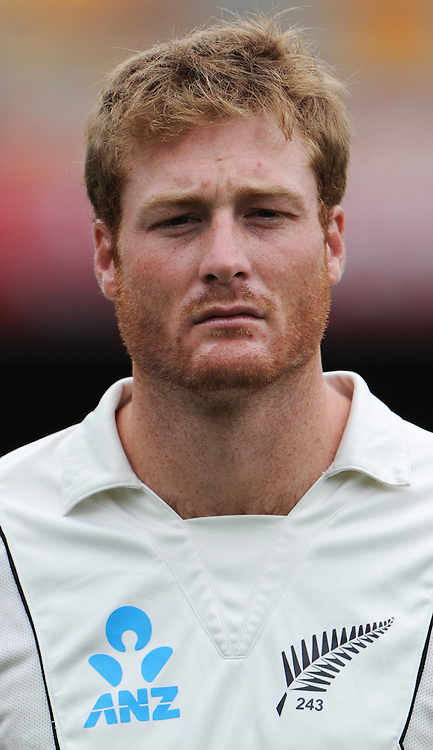 Martin Guptill on Day 1 of the first cricket test between Australia and New Zealand Black Caps at the Gabba in Brisbane, Thursday 1 December 2011. Photo: Andrew Cornaga/Photosport.co.nz
