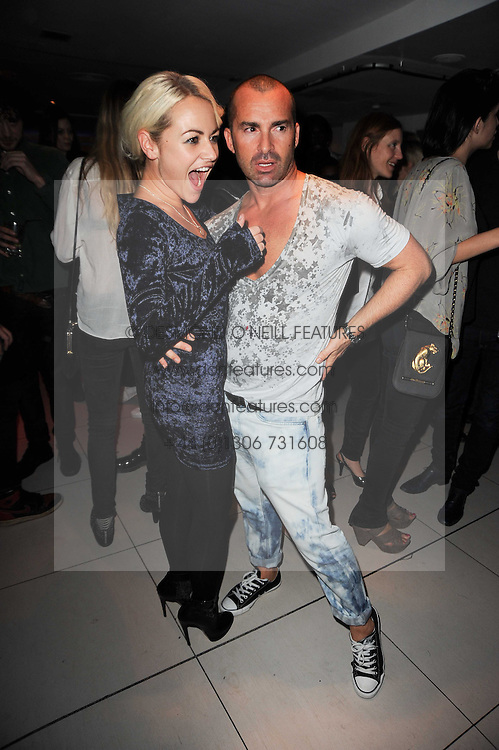 JAIME WINSTONE and LOUIE SPENCE at the W Hotels & American Express launch for the James Small collection at Number One Leicester Square, London on 22nd September 2010.