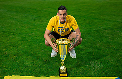Mitja Krizan during celebration of NK Bravo, winning team in 2nd Slovenian Football League in season 2018/19 after they qualified to Prva Liga, on May 26th, 2019, in Stadium ZAK, Ljubljana, Slovenia. Photo by Vid Ponikvar / Sportida