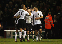 Photo: Rich Eaton.<br /> <br /> Crewe Alexander v Manchester United. Carling Cup. 25/10/2006. Kieran Lee celebrates scoring a last minute goal to give Manchester United a 2-1 victory