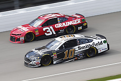 August 12, 2018 - Brooklyn, Michigan, United States of America - Aric Almirola (10) and Ryan Newman (31) battle for position during the Consumers Energy 400 at Michigan International Speedway in Brooklyn, Michigan. (Credit Image: © Chris Owens Asp Inc/ASP via ZUMA Wire)