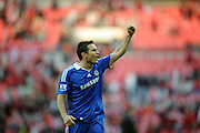 Frank Lampard of Chelsea celebrates victory at the end of the game