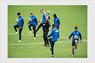 Jari Litmanen training with the Finland U19 national team which prepares to host the European Championships Final Tournament in 2018. Vaasa, Finland, August 31, 2017.