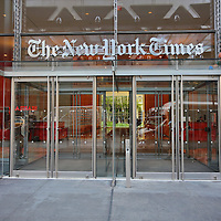 New York, US - 20 August 2015. The New York Times Building