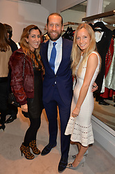 Left to right, JAKE & SAMIRA PARKINSON-SMITH and MARTHA WARD at a party at Herve Leger, Lowndes Street, London on 12th November 2014 to view the latest collection.