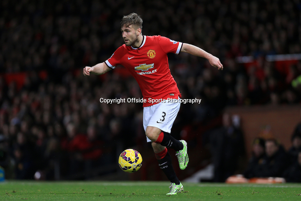 11th January 2015 - Barclays Premier League - Manchester United v Southampton - Luke Shaw of Man Utd - Photo: Simon Stacpoole / Offside.
