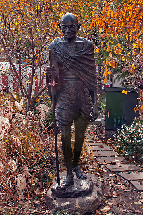 Mahatma Gandhi Statue by Kantilal B. Patel,  Union Square, Manhattan, New York City, New York, USA