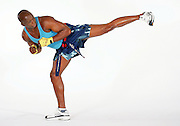 Billy Blanks performs at a Tae Bo workout session on December 8, 2004 in Sherman Oaks, California. ©Paul Anthony Spinelli