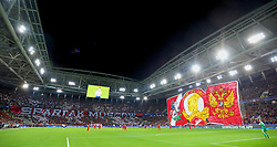 MOSCOW, RUSSIA - Tuesday, September 26, 2017: FC Spartak Moscow supporters' banner during the UEFA Champions League Group E match between Spartak Moscow and Liverpool at the Otkrytie Arena. (Pic by David Rawcliffe/Propaganda)
