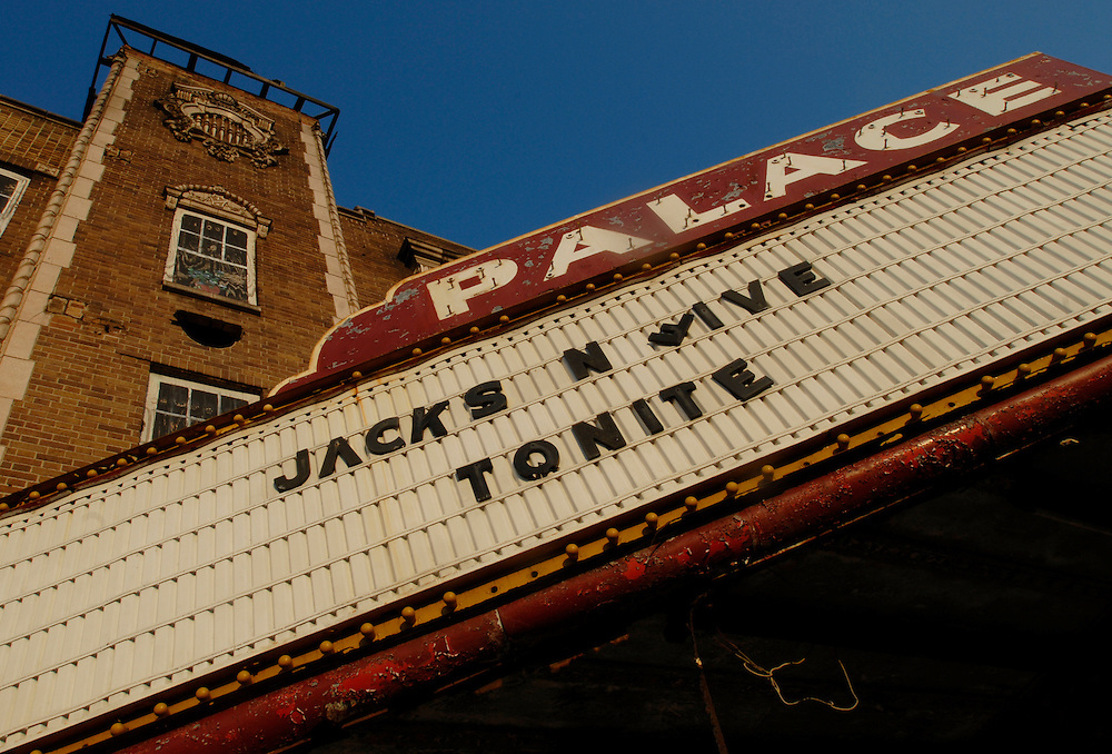 "A marquee at the abandoned Palace Theater still reads ""Jackson Five Tonite"" in Gary, Indiana. Michael Jackson and the Jackson family grew up in Gary. The city of 100,000 was founded in 1906 by the U.S. Steel Corporation as the home for its new plant. but in the 1960s Gary's fortunes took a downturn. Businesses closed and the crime rate spiraled earning Gary the infamous distinction of ""Murder Capital of America."" African Americans, which make up 85% of Gary's population face high rates of joblessness with the unemployment rate for black males at 18%."