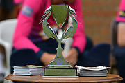 The One Day Cup on display during the friendly match between Nottinghamshire County Cricket Club and Northamptonshire County Cricket Club at Grantham CC, Grantham, United Kingdom on 5 July 2017. Photo by Simon Trafford.