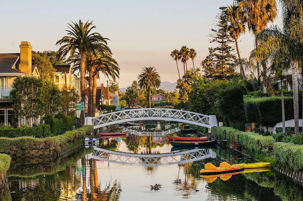 Bridge, Canal, Venice Beach, California