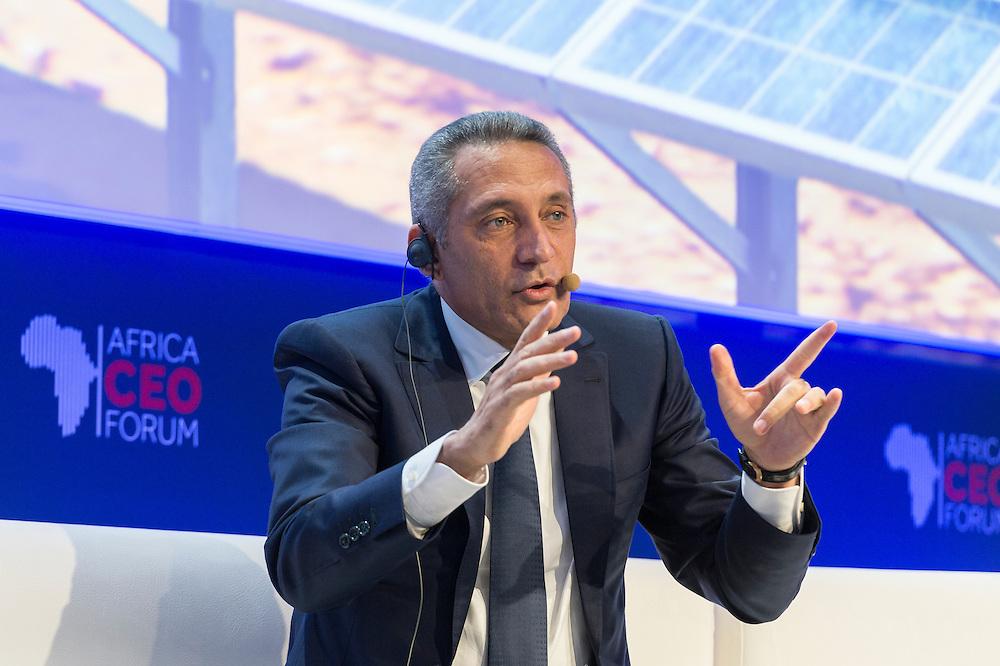 """Hafid Elalamy, Ministre de l'Industrie, du Commerce, de l'Investissemnt et de l'Economie numérique du Maroc, lors de Prospective: L'Afrique vers la 3ème révolution indsutrielle et la """"Société du coût marginal zéro"""", Africa CEO Forum 2015"""