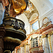 Interior of the Karlskirche in Vienna, Austria