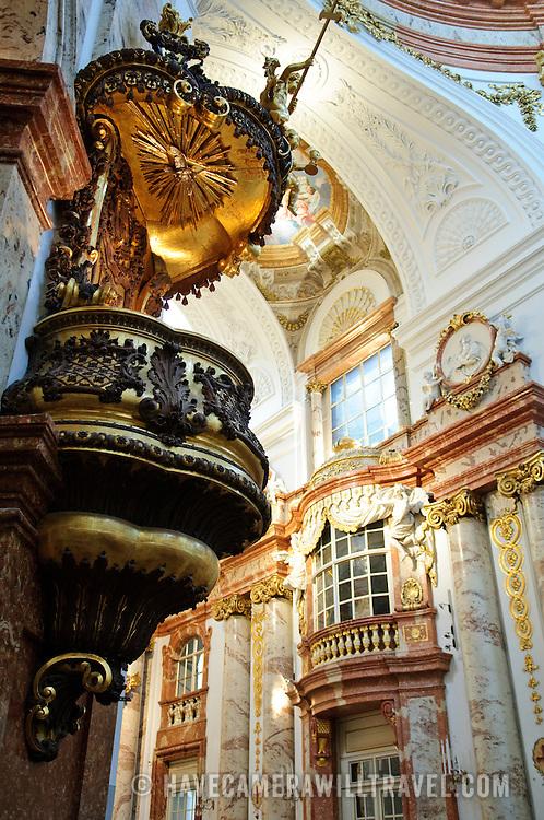 Interior of the Karlskirche in Vienna, Austria