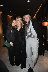 Left to right, JEANNE MARINE, SONIA FRIEDMAN and SIR BOB GELDOFF at the after show party following the first night of the musical Legally Blonde, held at the Waldorf Hilton Hotel, Aldwych, London on 13th January 2010.