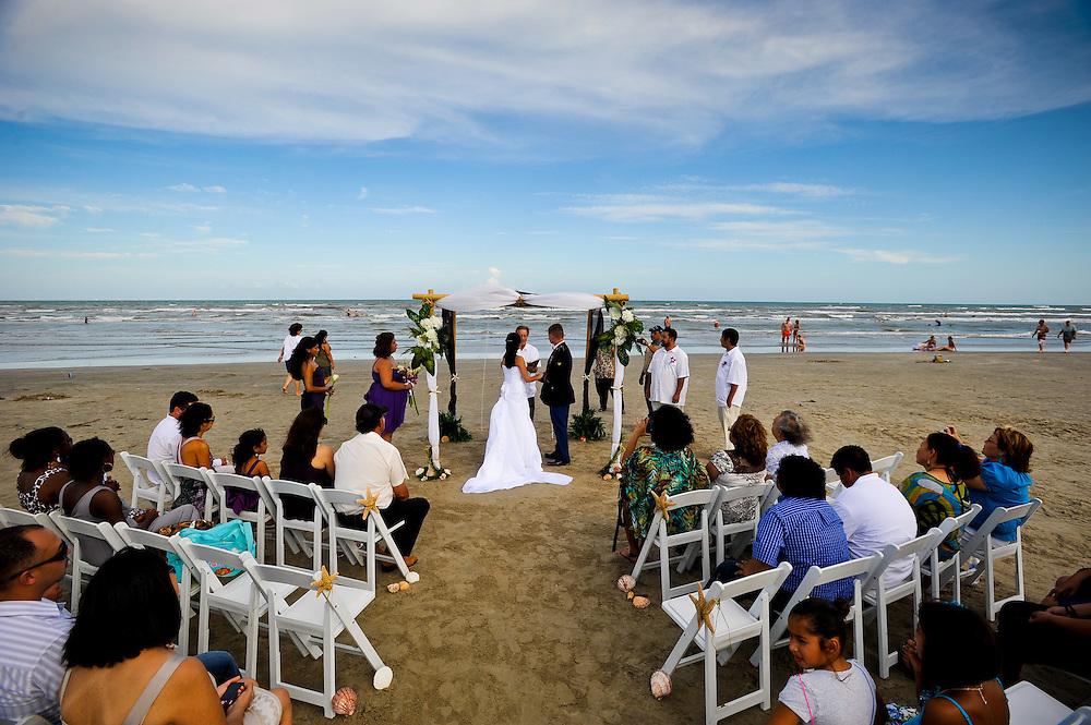 8/13/11 6:15:14 PM -- Port Aransas, TX.Wedding of Connie Torres and Doug Bernal Saturday, August 13, 2011 in Port Aransas.