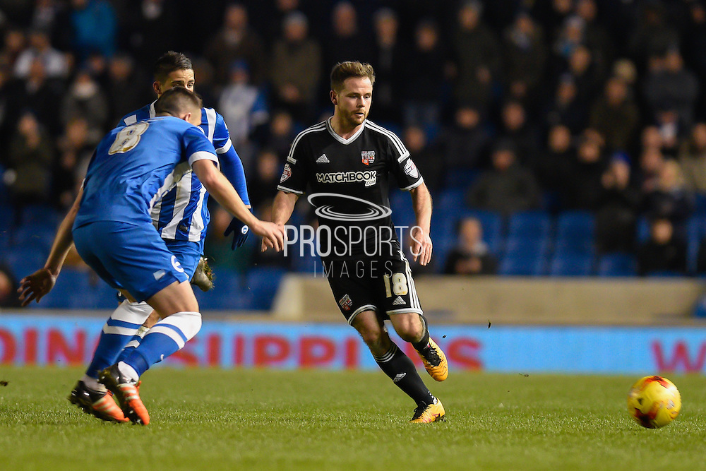 Brentford midfielder Alan Judge on the ball in midfield during the Sky Bet Championship match between Brighton and Hove Albion and Brentford at the American Express Community Stadium, Brighton and Hove, England on 5 February 2016. Photo by David Charbit.