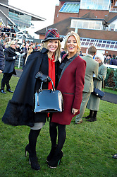 Left to right, AMANDA HOLDEN and MOLLIE KING at the 2012 Hennessy Gold Cup at Newbury Racecourse, Berkshire on 1st December 2012