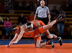 Virginia's Michael Chaires defeated Campbell's Chris Mazzatta by technical fall (22-7) in the 165lb weight class.  The Virginia Cavaliers defeated the Campbell Camels 48-0 in wrestling at the the University of Virginia's Memorial Gymnaisum  in Charlottesville, VA on February 2, 2008.