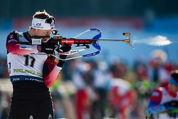 Johannes Thingnes Boe (NOR) during the Men 20 km Individual Competition at day 1 of IBU Biathlon World Cup 2019/20 Pokljuka, on January 23, 2020 in Rudno polje, Pokljuka, Pokljuka, Slovenia. Photo by Peter Podobnik / Sportida