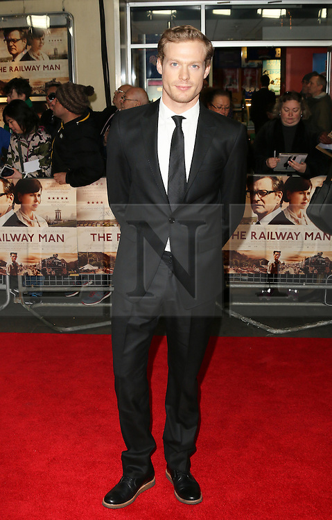© Licensed to London News Pictures. 04/12/2013, UK. Sam Reid, The Railway Man - UK Film Premiere, Odeon West End, Leicester Square, London UK, 04 December 2013. Photo credit : Richard Goldschmidt/Piqtured/LNP