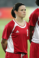 12 August 2008: Diana Matheson (CAN).  The women's Olympic team of Sweden defeated the women's Olympic soccer team of Canada 2-1 at Beijing Workers' Stadium in Beijing, China in a Group E round-robin match in the Women's Olympic Football competition.