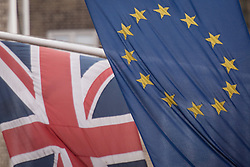 Embargoed to 0001 Monday April 30 File photo dated 17/2/2016 of the EU and Union flags, as a British Chambers of Commerce (BCC) and the Port of Dover study reveals that one in three firms affected by any new post-Brexit customs arrangements have not made plans for the changes.