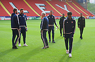 Ipswich Town players arrive for the Sky Bet Championship match at The Valley, London<br /> Picture by Alan Stanford/Focus Images Ltd +44 7915 056117<br /> 28/11/2015