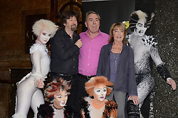 Trevor Nunn, Sir Andrew Lloyd Webber, Gillian Lynne and cast of Cats attend Cats Photocall at The London Palladium, Argyll Street, London on Monday 7 July 2014