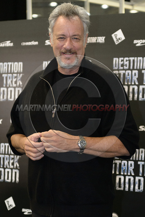 """LONDON, ENGLAND, OCTOBER 19, 2012: Cast members, writers and producers attend the """"Destination Star Trek London"""" fan expo inside ExCeL in London, United Kingdom on Friday, October 19, 2012 © Martin McNeil"""