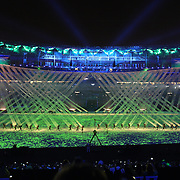 Opening Ceremony 2016 Olympic Games:  Maracana Stadium during the spectacular opening ceremony for the 2016 Olympic Games on August 5, 2016 in Rio de Janeiro, Brazil. (Photo by Tim Clayton/Corbis via Getty Images)
